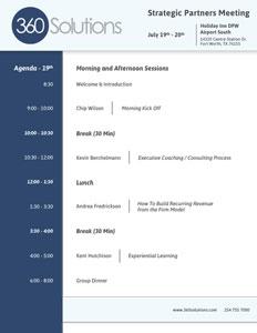 partner meeting agenda